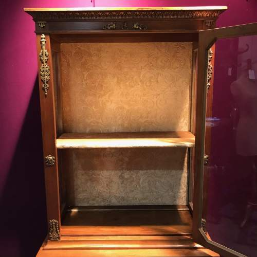 French Empire Period Walnut Two Part Cabinet image-6