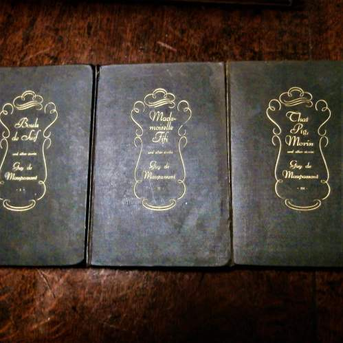 Books:  Guy De Maupassant. 17 of 18 volumes published in the 1920s image-4