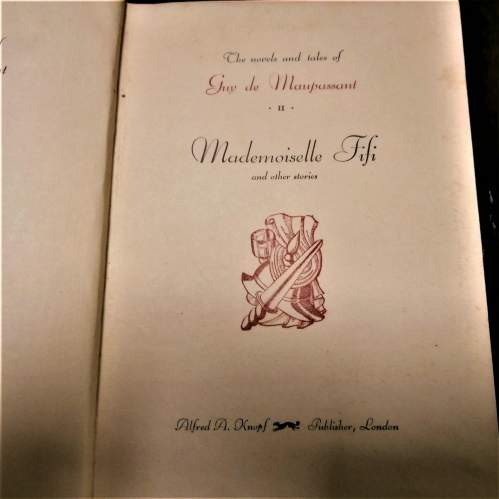 Books:  Guy De Maupassant. 17 of 18 volumes published in the 1920s image-6