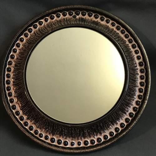 Rare Vintage Scandinavian Ceramic Mirror image-1