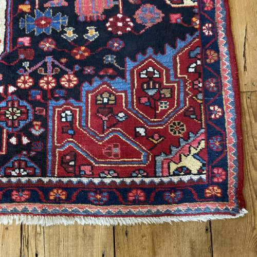 Old Hand Knotted Persian Nehavend Very Unusual Sample Rug image-2