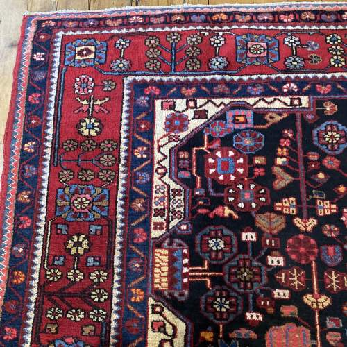 Old Hand Knotted Persian Nehavend Very Unusual Sample Rug image-3