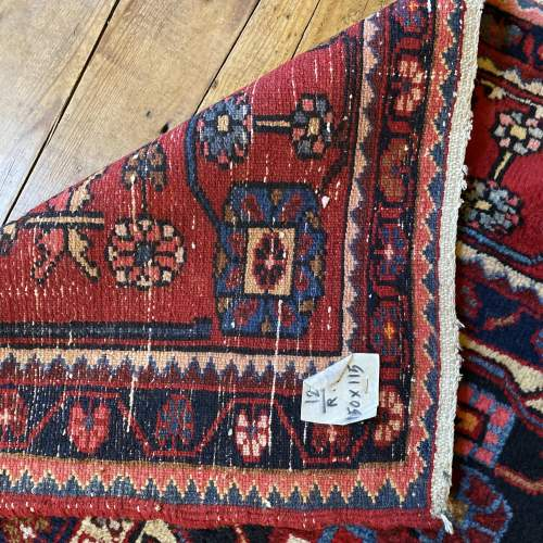 Old Hand Knotted Persian Nehavend Very Unusual Sample Rug image-4