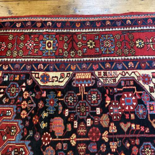 Old Hand Knotted Persian Nehavend Very Unusual Sample Rug image-5