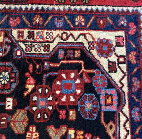 Old Hand Knotted Persian Nehavend Very Unusual Sample Rug image-6