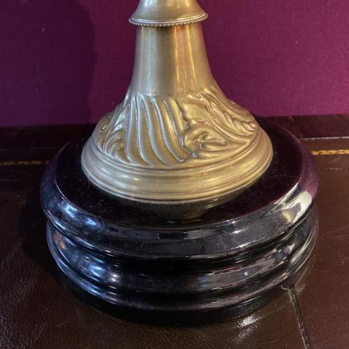 Original Victorian Art Nouveau Double Burner Duplex Oil Lamp image-2