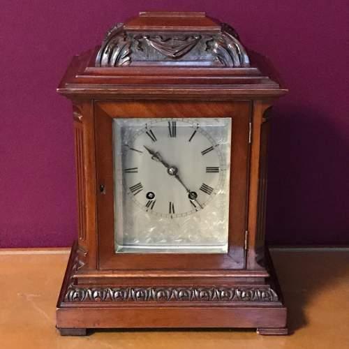 Small Proportioned Mahogany Bracket Clock image-1