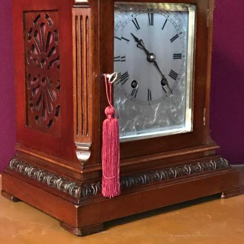 Small Proportioned Mahogany Bracket Clock image-2