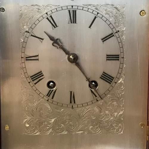 Small Proportioned Mahogany Bracket Clock image-3
