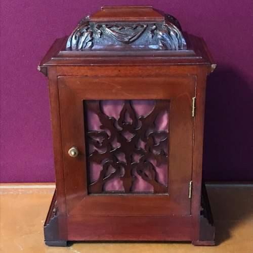 Small Proportioned Mahogany Bracket Clock image-5