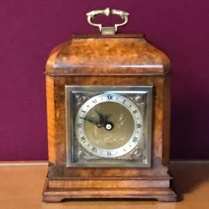 Elliott Miniature Burr Walnut Bracket Clock