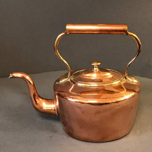 Small 19th Century Copper Kettle image-1