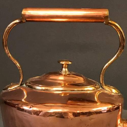 Small 19th Century Copper Kettle image-4