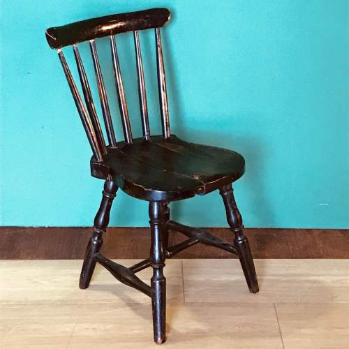 19th Century Spindle Back Childs Chair image-1