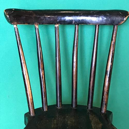 19th Century Spindle Back Childs Chair image-2