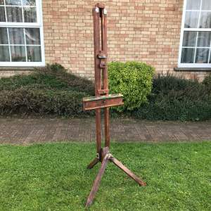 Vintage Oak Reeves Artists Easel