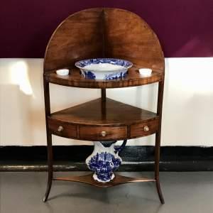 Victorian Mahogany Corner Washstand