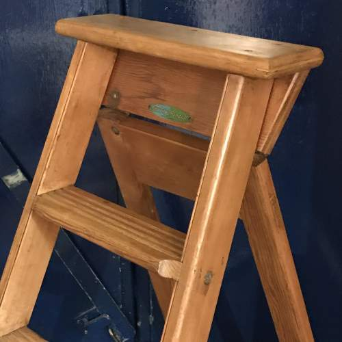 Pair of Mid 20th Century Gravity Randall Step Ladders image-2