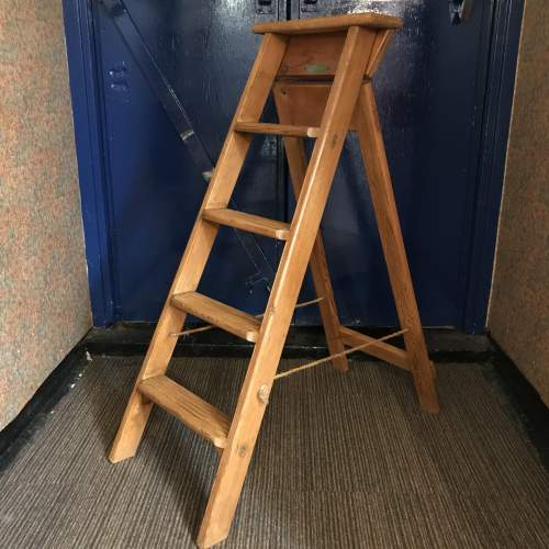 Pair of Mid 20th Century Gravity Randall Step Ladders image-1