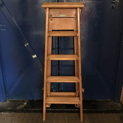 Pair of Mid 20th Century Gravity Randall Step Ladders image-4