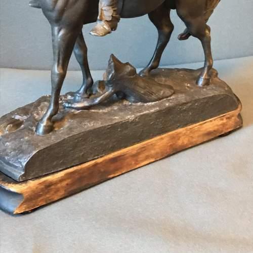Victorian Spelter Figure of a Cavalier on Horseback image-5