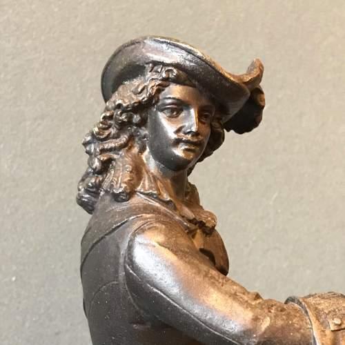 Victorian Spelter Figure of a Cavalier on Horseback image-3