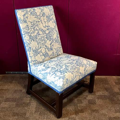 19th Century Upholstered Mahogany Side Chair image-1