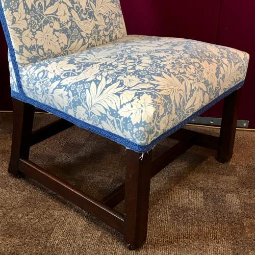 19th Century Upholstered Mahogany Side Chair image-3