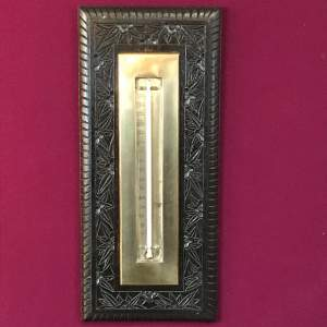 Late 19th Century Oak Framed Wall Thermometer