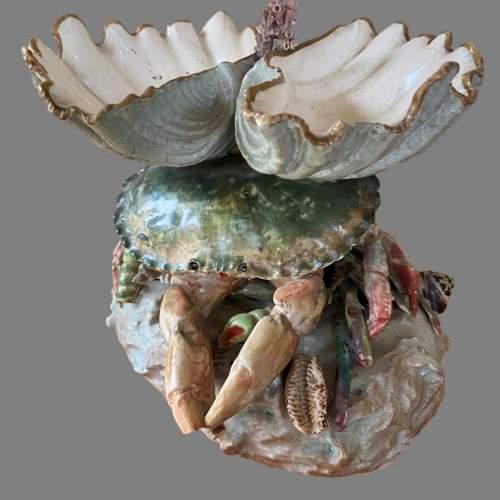 A Victorian Novelty Centrepiece Modelled As A Crab. Circa 1870 image-1