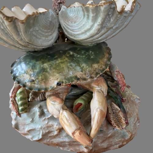 A Victorian Novelty Centrepiece Modelled As A Crab. Circa 1870 image-2