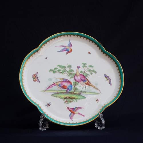 An Antique Minton Quatrefoil Tray image-1