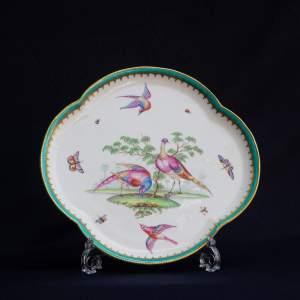 An Antique Minton Quatrefoil Tray