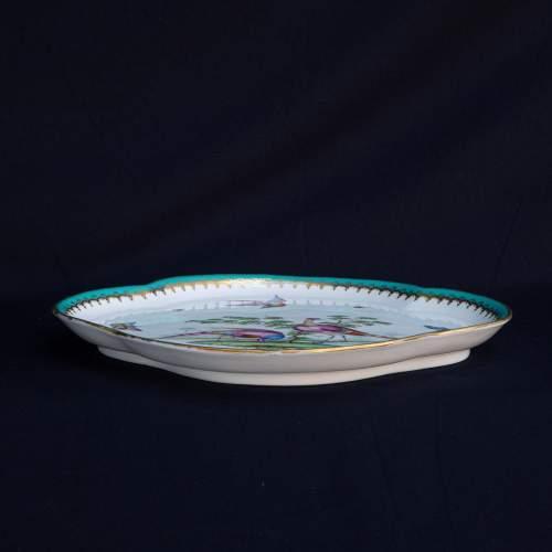 An Antique Minton Quatrefoil Tray image-2