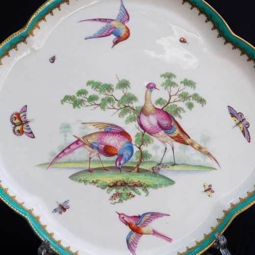 An Antique Minton Quatrefoil Tray image-3