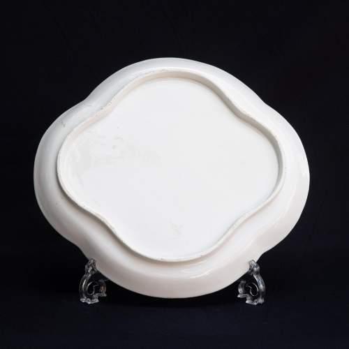 An Antique Minton Quatrefoil Tray image-5