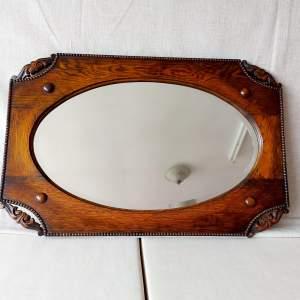 Stunning 1930s Oak Framed Wall Mirror