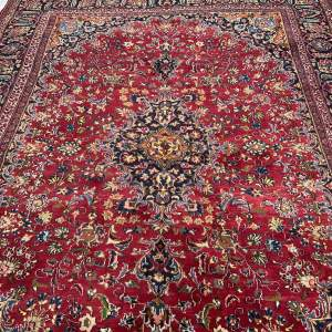 Stunning Hand Knotted Persian Rug Kashan Floral All Over Design