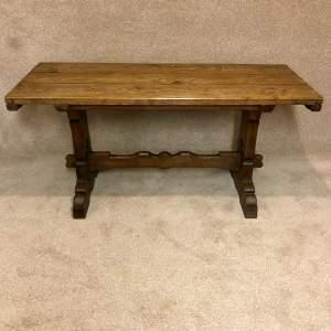 Fine Quality Oak Refectory Table