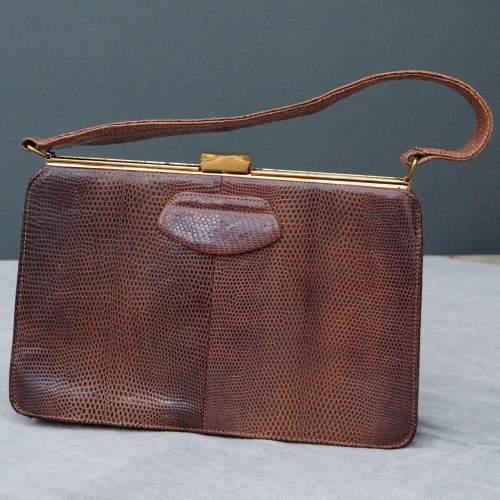 Late 1950's Tan Riviera Handbag. image-1