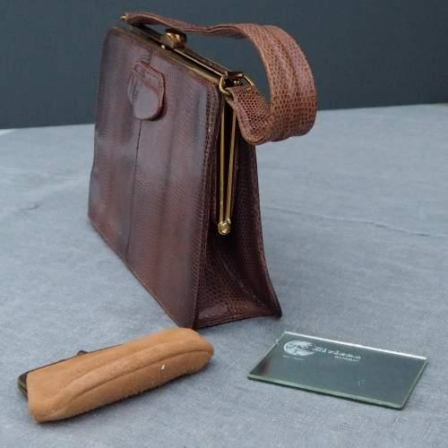 Late 1950's Tan Riviera Handbag. image-2