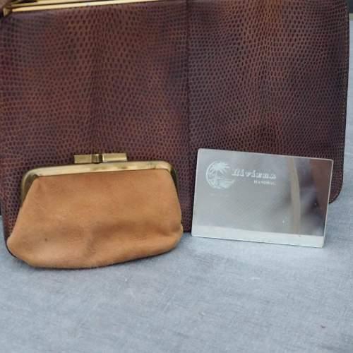 Late 1950's Tan Riviera Handbag. image-3