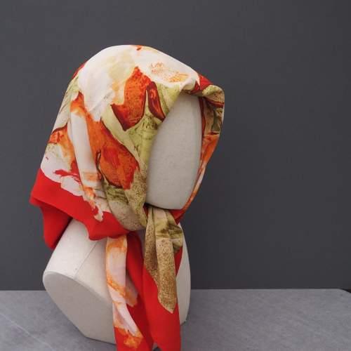 Vintage silk Cornelia James Scarf image-1