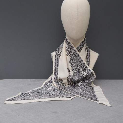 Vintage Silk Paisley Jacqmar Scarf image-3