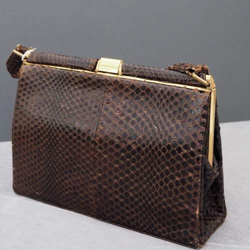 Dark Brown 1940's/50's Fassbender Handbag image-1