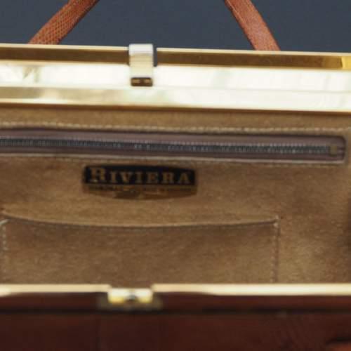 Twin Handle Tan Riviera Handbag image-3