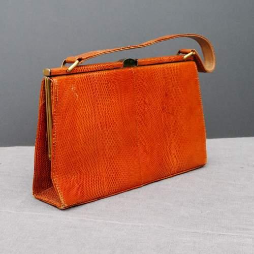 Stuart Apps 1950's/60's Dainty Tan Handbag image-1