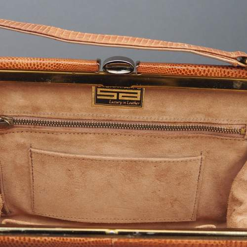 Stuart Apps 1950's/60's Dainty Tan Handbag image-2