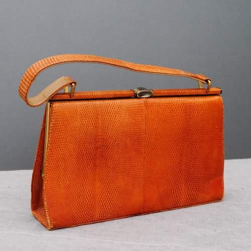 Stuart Apps 1950's/60's Dainty Tan Handbag image-4