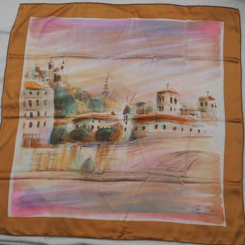 French Silk Satin Handmade Scarf image-4